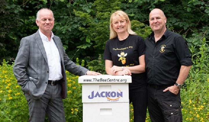 Jackon donating one of their hives to the Bee Centre