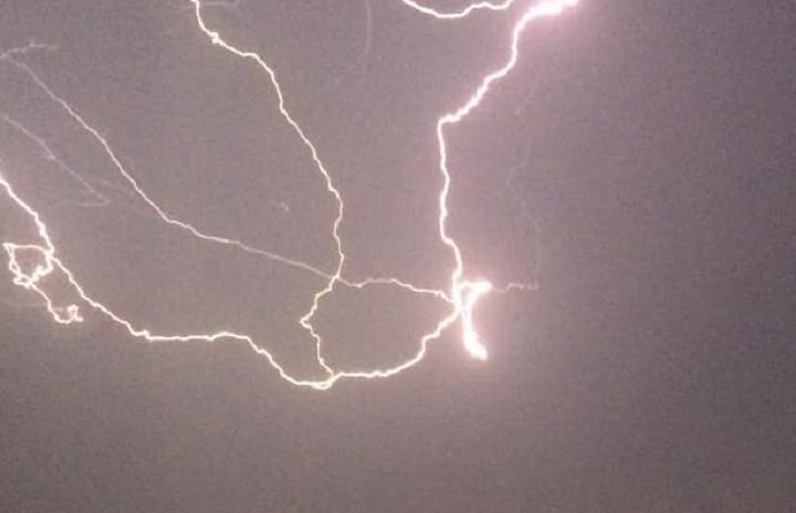 Lightning storm over Fulwood Pic: Harry Carlisle