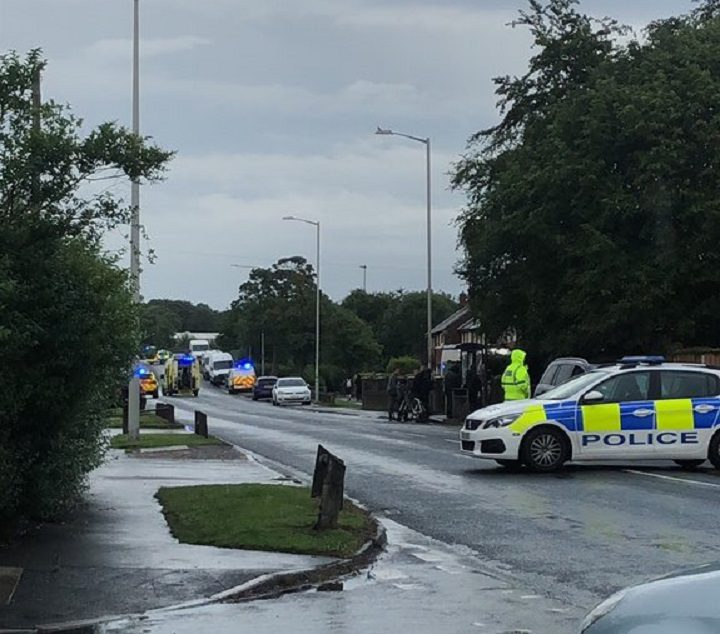 Police closed off Longridge Road Pic: Ryan Moss