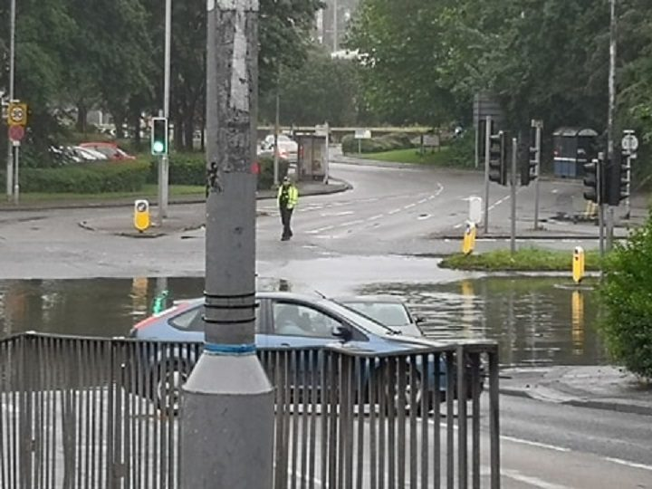 Drivers are being turned round on Riversway
