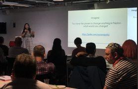 A presentation during the Preston Citizens event Pic: Citizens UK