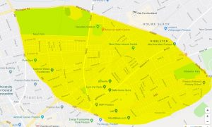 Section 60 order area from Preston Police