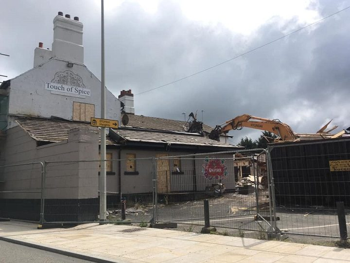 What was Touch of Spice being demolished Pic: This Is Broughton