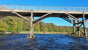 The Old Tram Bridge spans the River Ribble at Avenham Park Pic: Stephen Melling