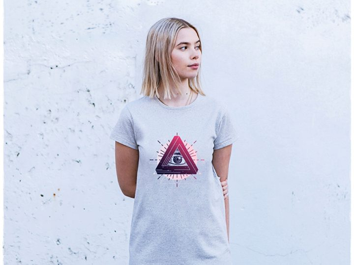 A 'mystic eye' design from CHANGE's new autumn/winter collection