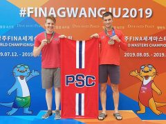 l-r Dean and Luke with their medals in Gwangju