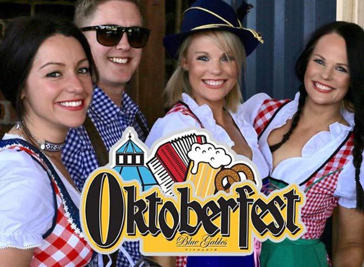 People dressed up for Oktoberfest