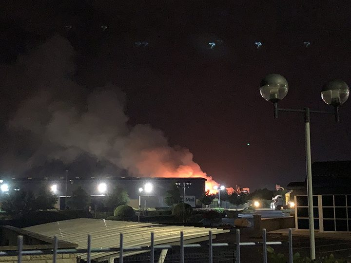 The fire has continued throughout the night and into the morning Pic: @CulbertAlex