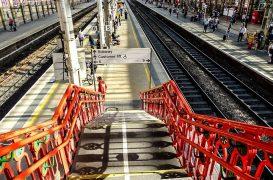Heading onto the platforms at Preston Station Pic: Wayne Affie/Affiefilms