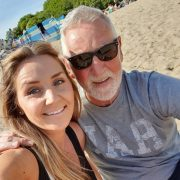 Christina with her father Dennis on a recent holiday to Wales Pic: Christina Shiels