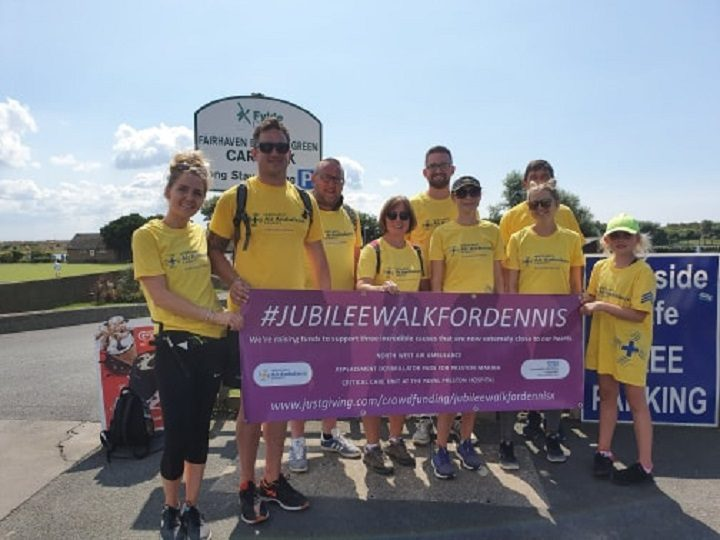 Christina and a team of eight others took on the walking challenge Pic: Christina Shiels
