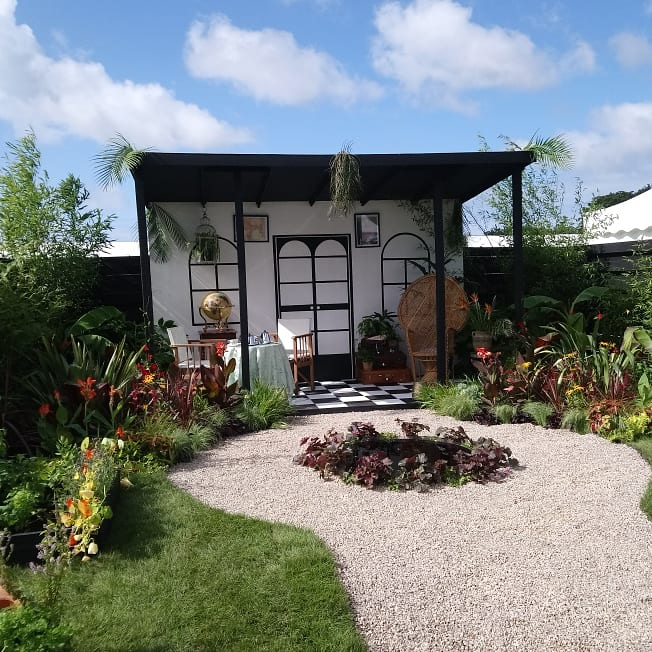 The Colonial style garden Pic: Steph Lees-Pinson