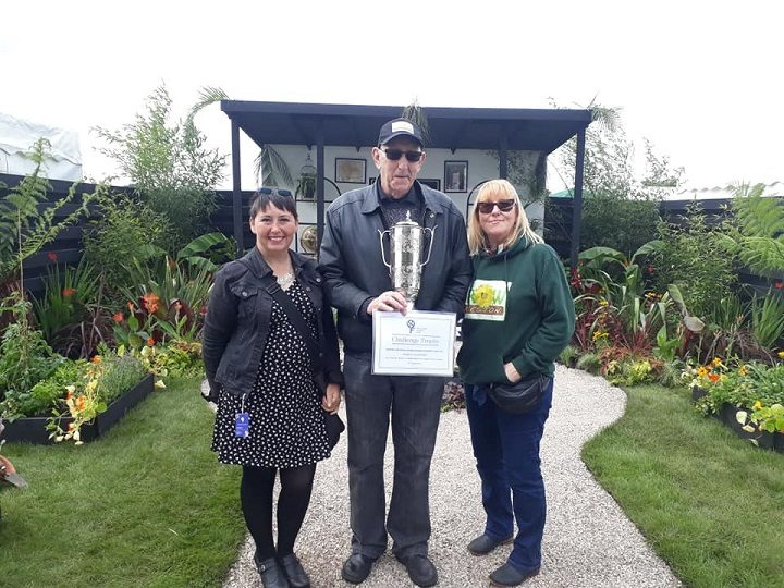 Some of the Let's Grow team with their best charity garden prize Pic: Let's Grow Preston