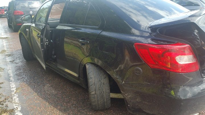 Damage to a second car Pic: LancsRoadPolice