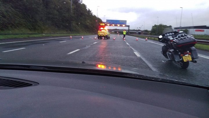 M6 closure in place at Junction 31A Pic: Steve Milton