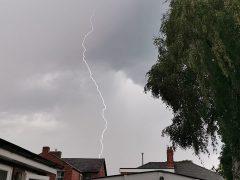 Thunderstorm over Penwortham Pic: Janette Hall