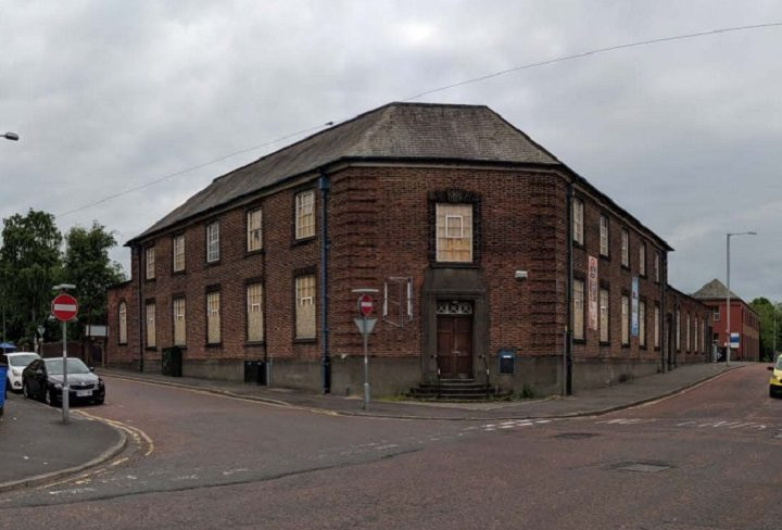 The current abandoned building in Pole Street