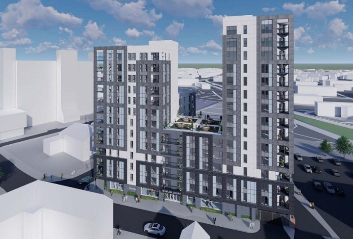 Another view of the flats planned for Pole Street
