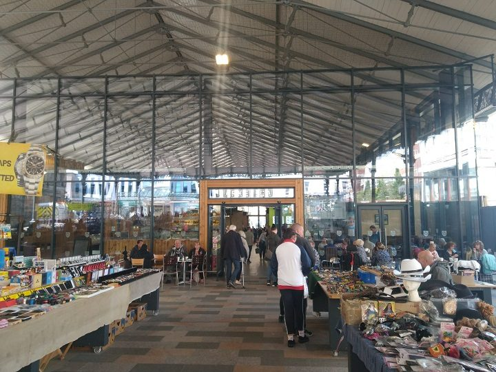 Looking into the Market Hall building under the Covered Market Pic: Blog Preston