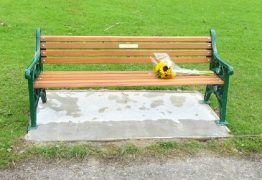 The new bench in Haslam Park was installed by the parks team working with Steven Wardle's family Pic: Tony Worrall
