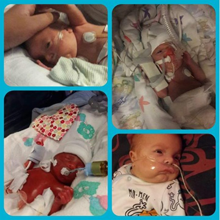 Collage of baby Jack in the NICU