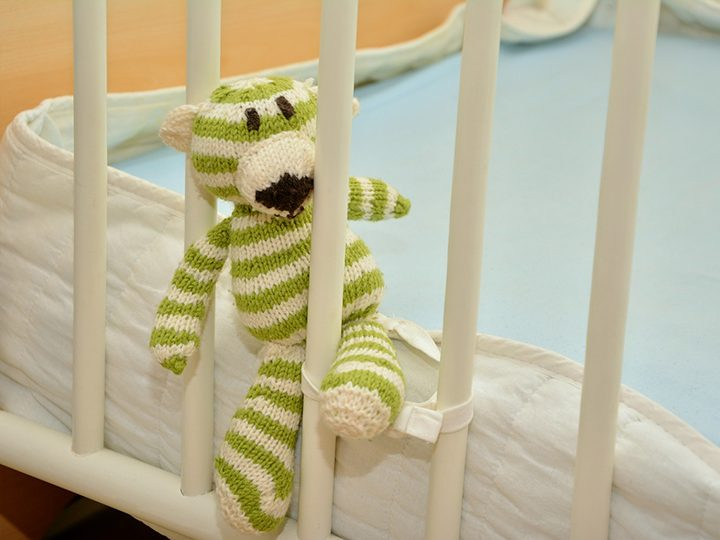 Soft toy in a cot Pic: congerdesign from Pixabay