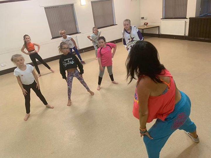 Tina teaching one of her classes