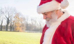 An actor playing Santa Claus