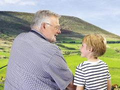 A foster carer and child