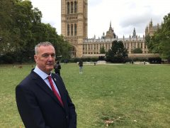 Police and Crime Commissioner Clive Grunshaw at Westminster