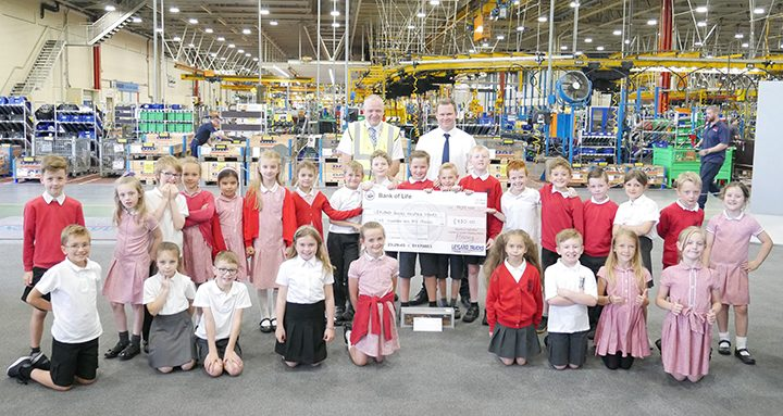 James Woodhouse and his classmates on their visit to Leyland Trucks