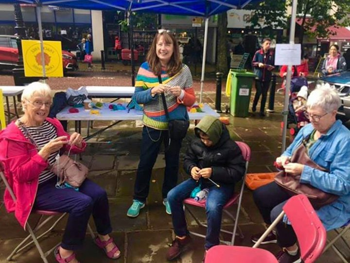 Knitting Cafe made an appearance at the recent Feast for Peace