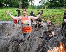 Mark Barkworth completing a Tough Mudder event