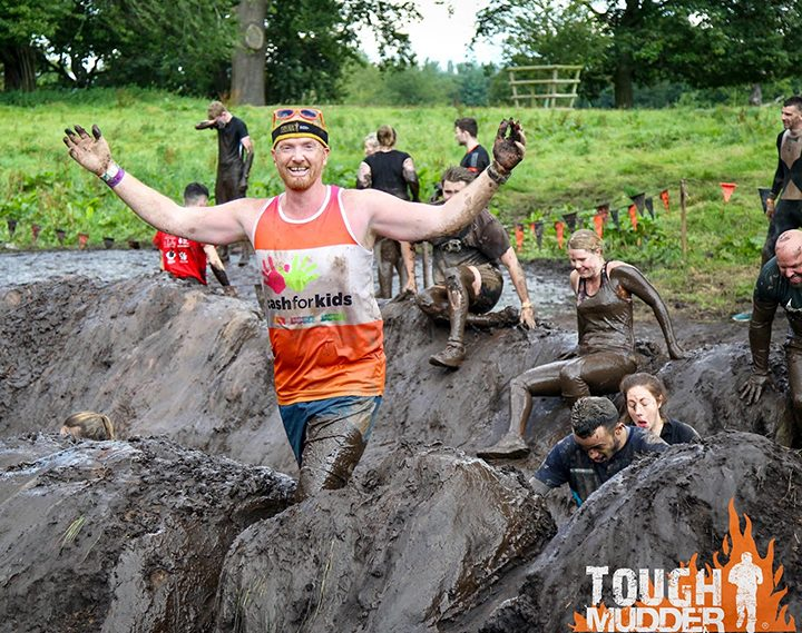 Mark Barkworth completing a Tough Mudder event
