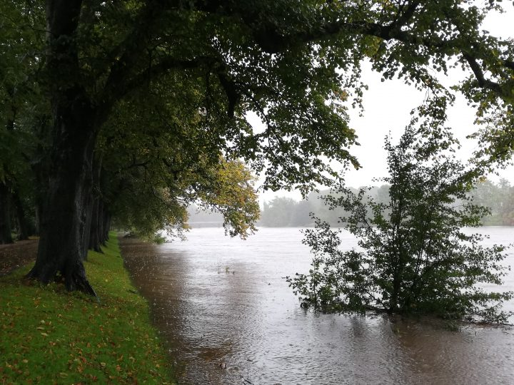 River Ribble near Avenham Park Avenue