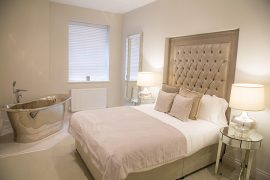 The One Winckley Square show apartment's bedroom