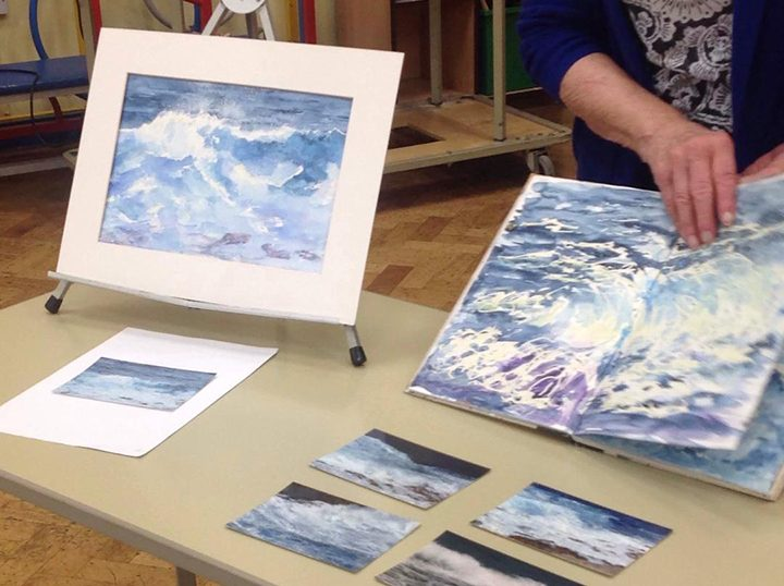 The Sea and Waves from a Preston Art Society painting challenge
