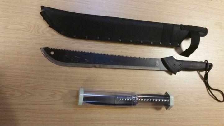 Knives taken off the street in Kingsfold in 2019