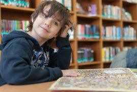 Child in a library Pic: barskefranck from Pixabay