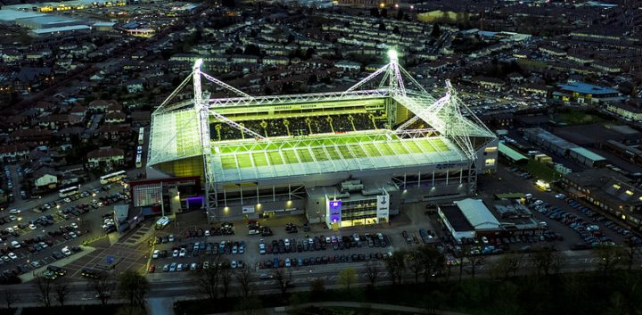 An overhead view of Deepdale Stadium where the Big PNE Sleep Out will take place Pic: Stephen Melling