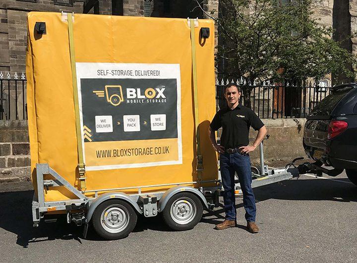 Craig with one of his BLOX trailers