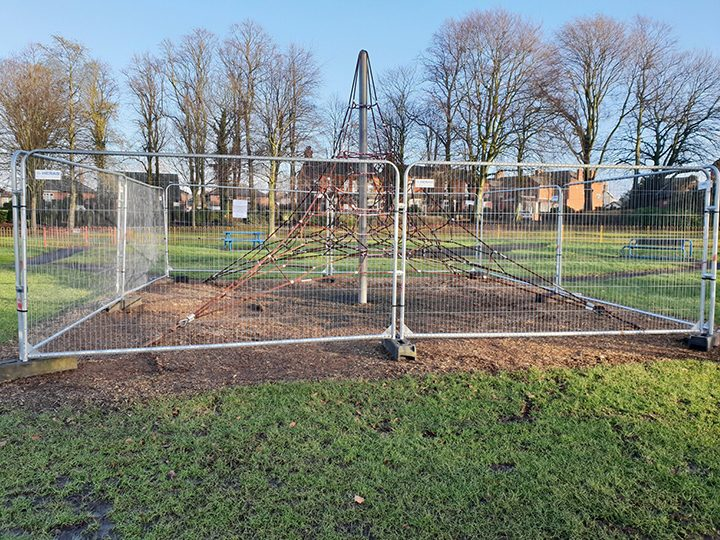 Part of the playground that will be refurbished