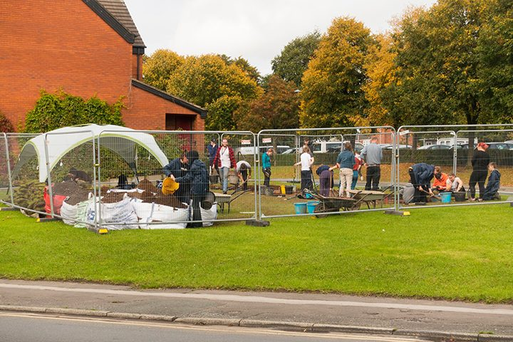 UCLan students busy at the dig site in Brook Street Pic: David Toase