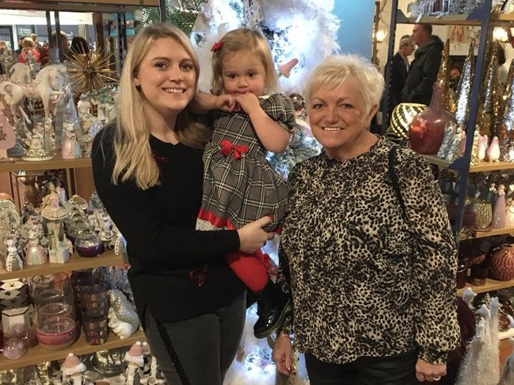 Katy with her daughter and mum