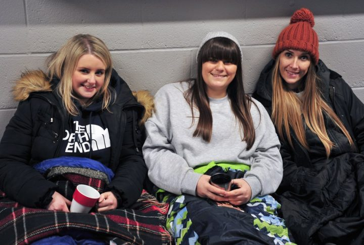 Bedding down for the Big PNE Sleep Out