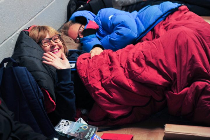 The Big PNE Sleep Out saw the city unite to raise funds for the Foxton Centre Pic: Donna Clifford