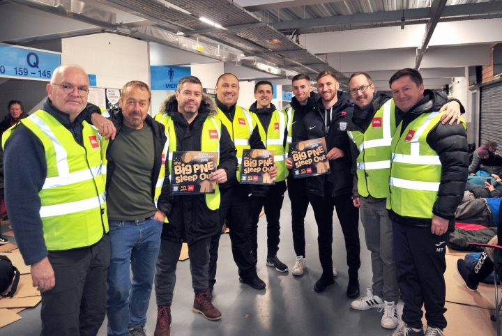 The Foxton Centre, Preston North End Community Trust, Biffa and Blog Preston combined to organise the Big PNE Sleep Out Pic: Donna Clifford