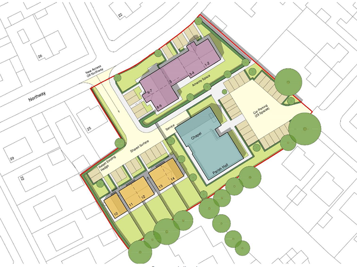 Proposed site plan Pic: Paddock Johnson Partnership
