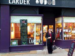 Rachel outside The Larder