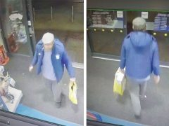 CCTV images of the suspect arriving and then leaving the store